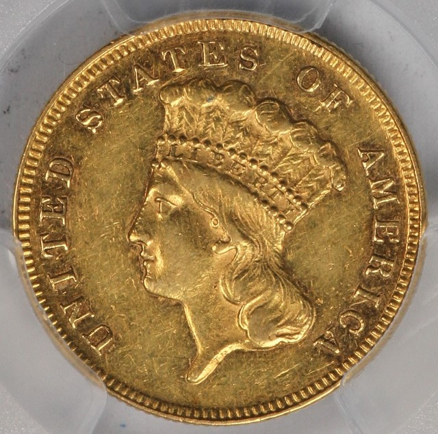 3 Liberty Head Gold 1868 Pcgs Au50 Tougher Date