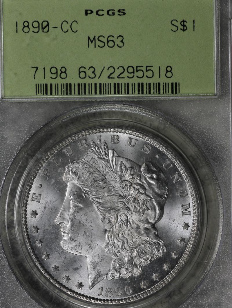 1890 Cc Morgan Dollar Pcgs Ms63 Ogh
