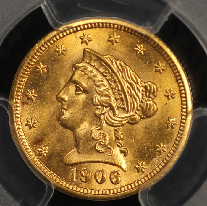 1906 2 50 Liberty Gold Pcgs Ms64