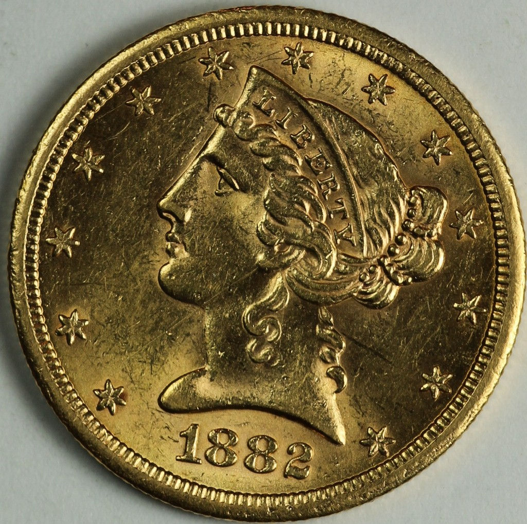 1882 S 5 Gold
