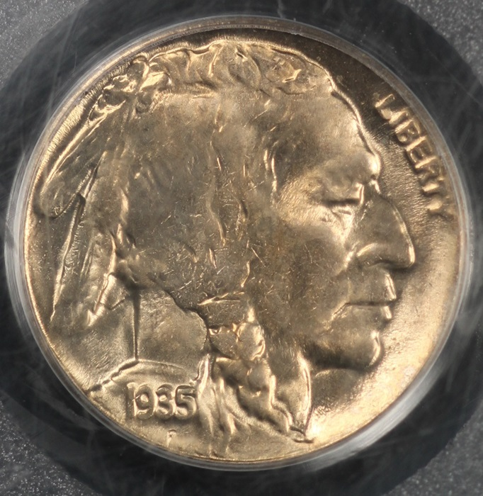 1935 D Buffalo Nickel Pcgs Ms64