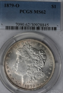 1879-O Morgan Dollar PCGS MS62