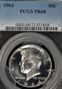 1968 Proof 68 Kennedy Half - GEM+++ Coin - PCGS PR68