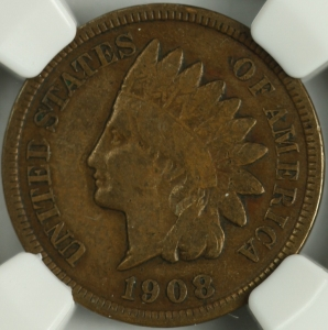 1908 S Indian Cent VF20 NGC