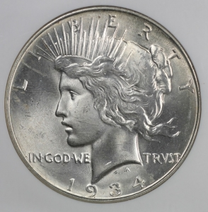 1934-D Peace Dollar NGC MS65