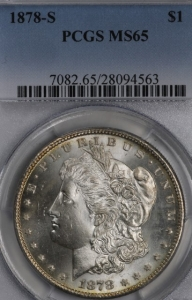 1878-S Morgan Dollar PCGS MS65