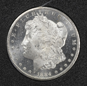 Deep Mirror Proof Like 1884-CC Morgan Dollar - NGC MS63DPL