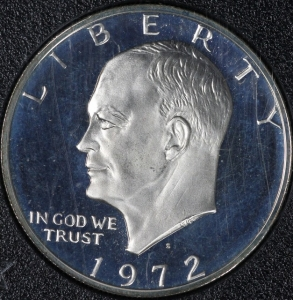 1972 Silver Proof Doubled Die Ike