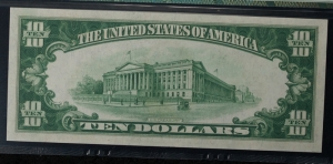 1928A $10 Federal Reserve Note - FR 2001-G - PMG 64EPQ