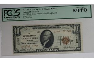 The National Bank of Grand Rapids $10 Type 2 53PPQ