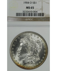 1904 O Morgan Dollar - NGC MS65