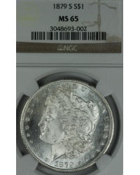 1879 S Morgan Dollar NGC MS65