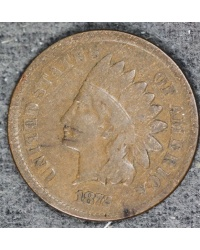 1872 Indian Cent Stong VG Coin