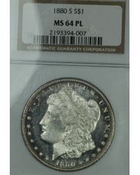 1880 S Morgan Dollar NCG MS64PL