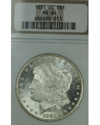 1881 CC Morgan Dollar NGC MS64