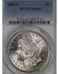 1881 S Morgan Dollar PCGS MS65