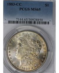 1883-CC Morgan Dollar PCGS MS65
