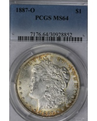 1887-O Morgan Dollar PCGS MS64