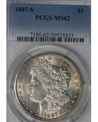 1887-S Morgan Dollar PCGS MS62