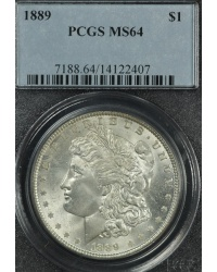 1889 MS64 Morgan Dollar PCGS