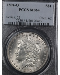 High Grade 1894-O Morgan Dollar PCGS MS64