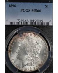 1896 Morgan Dollar PCGS MS66