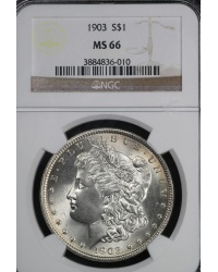 1903 Morgan Dollar Grade MS66 by NGC