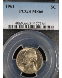 1961 MS66 Jefferson Nickel PCGS
