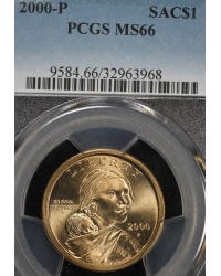 Wounded Eagle 2000-P Sacagawea Dollar - PCGS MS66
