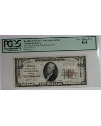 The American National Bank of Grand Rapids Type 1 $10 Note PCGS 64