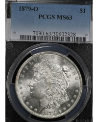 1879-O Morgan Dollar PCGS MS63