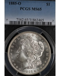 1885-O Morgan Dollar PCGS MS65