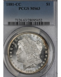 1881-CC Morgan Dollar PCGS MS63 PQ++