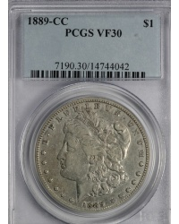 1889 CC Morgan Dollar PCGS VF30 - Problem-Free Coin