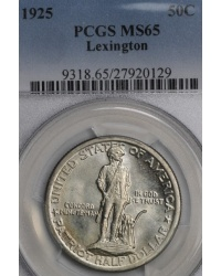 1925 Lexington Concord Commemorative Half PCGS MS65