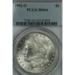 1902 o Morgan Dollar