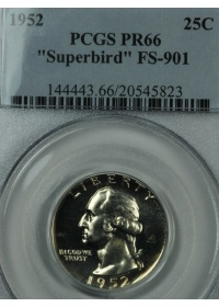 1952 Proof 66 Superbird Washington Quarter PCGS