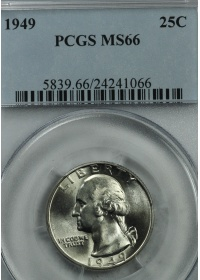 1949 Washington Quarter PCGS MS66